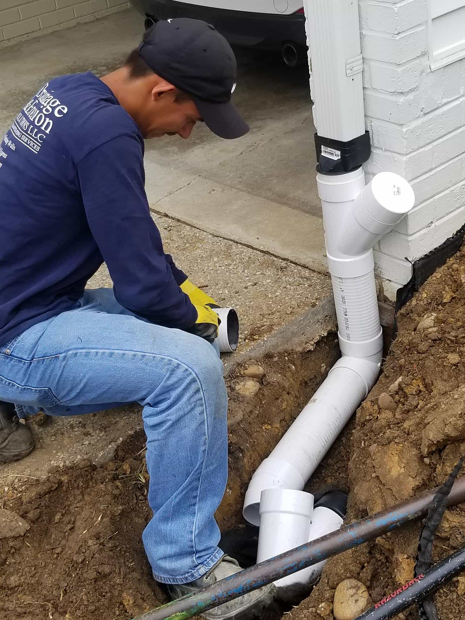 Downspout Extensions Home Waterproofing Company Northern Va