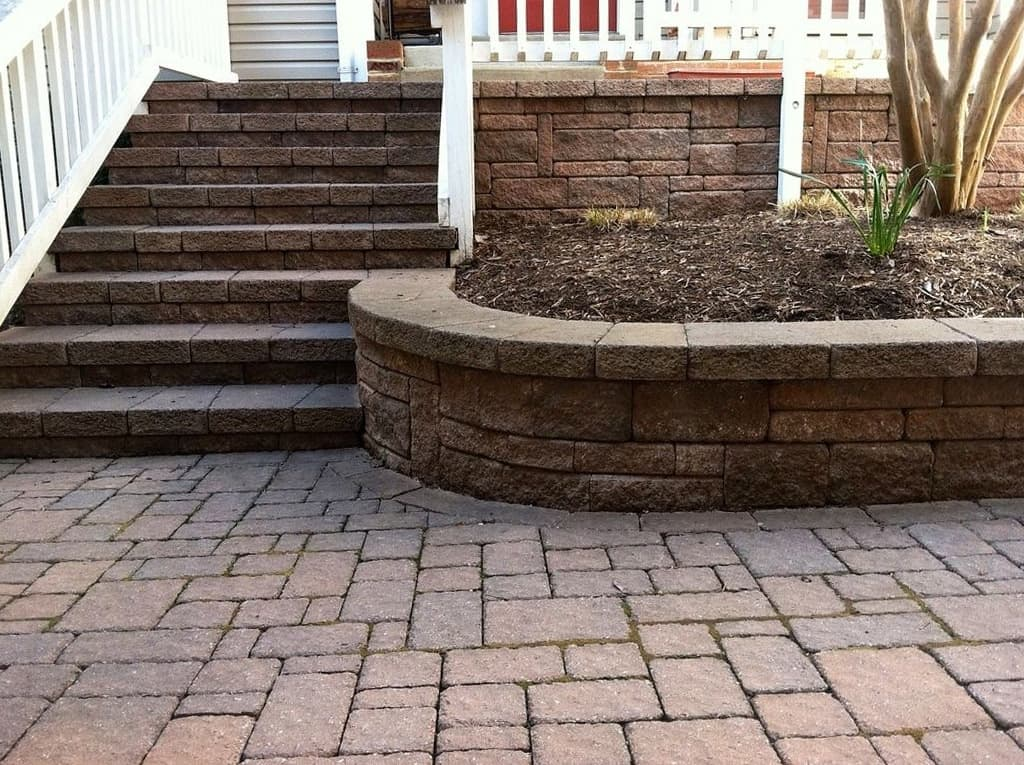 an example of a professional patio installation in virginia