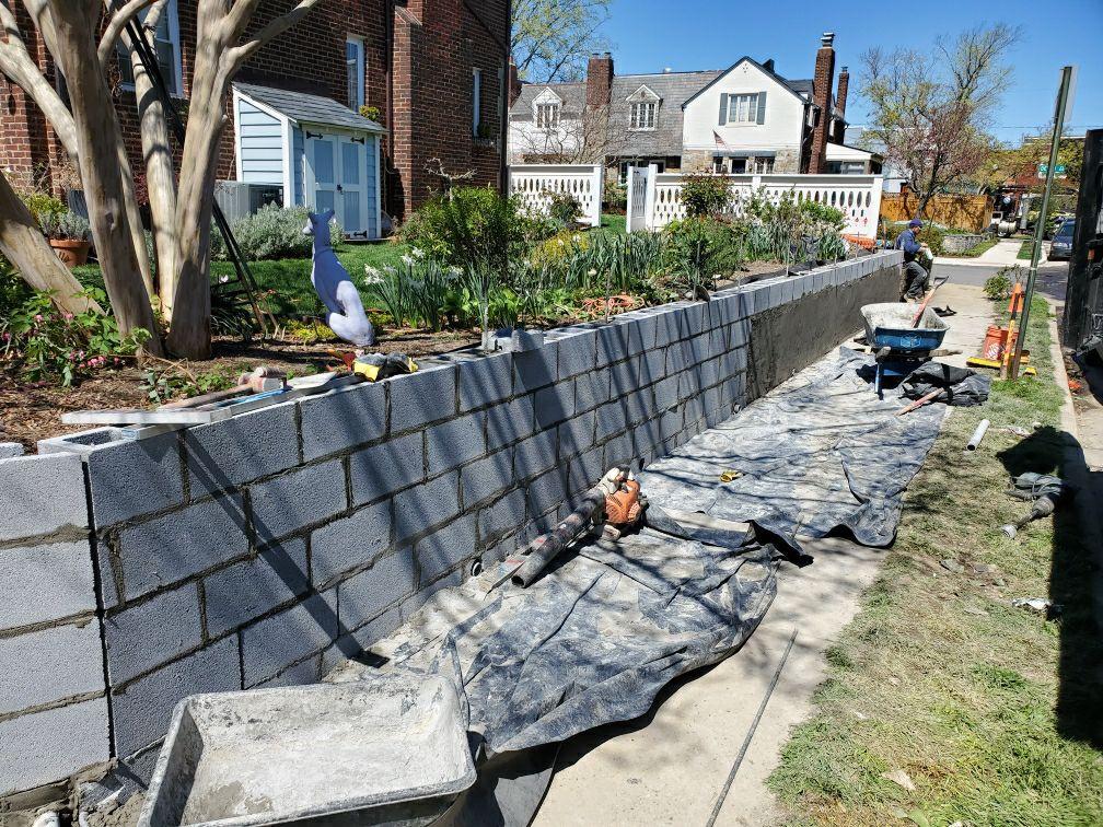 Retaining wall installation Arlington VA