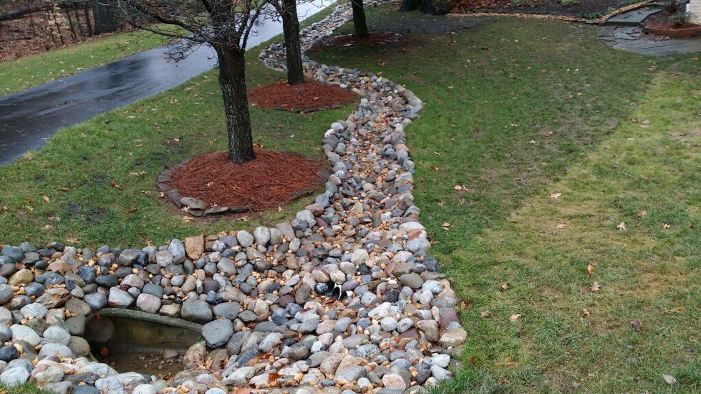 Yard drainage system in Bethesda MD